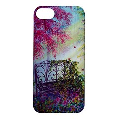 Bench In Spring Forest Apple Iphone 5s/ Se Hardshell Case by Amaryn4rt