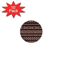 Ethnic Pattern Vector 1  Mini Buttons (10 Pack)  by Amaryn4rt