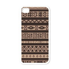 Ethnic Pattern Vector Apple Iphone 4 Case (white) by Amaryn4rt