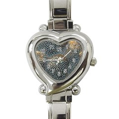 Coral Pattern Heart Italian Charm Watch by Amaryn4rt