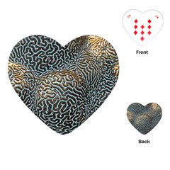 Coral Pattern Playing Cards (heart)