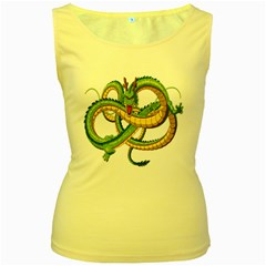 Dragon Snake Women s Yellow Tank Top
