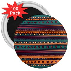 Ethnic Style Tribal Patterns Graphics Vector 3  Magnets (100 Pack) by Amaryn4rt