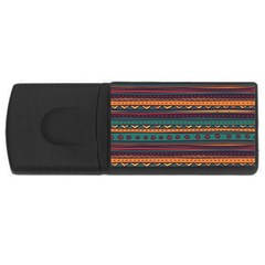 Ethnic Style Tribal Patterns Graphics Vector Usb Flash Drive Rectangular (4 Gb) by Amaryn4rt