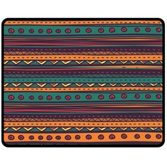 Ethnic Style Tribal Patterns Graphics Vector Fleece Blanket (medium)  by Amaryn4rt