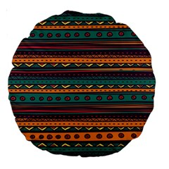 Ethnic Style Tribal Patterns Graphics Vector Large 18  Premium Round Cushions by Amaryn4rt