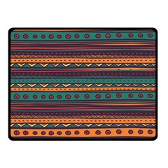 Ethnic Style Tribal Patterns Graphics Vector Double Sided Fleece Blanket (small)  by Amaryn4rt