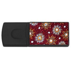 India Traditional Fabric Usb Flash Drive Rectangular (4 Gb) by Amaryn4rt