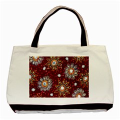 India Traditional Fabric Basic Tote Bag by Amaryn4rt