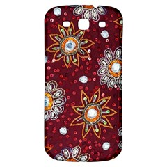 India Traditional Fabric Samsung Galaxy S3 S Iii Classic Hardshell Back Case by Amaryn4rt