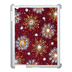 India Traditional Fabric Apple Ipad 3/4 Case (white) by Amaryn4rt