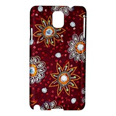 India Traditional Fabric Samsung Galaxy Note 3 N9005 Hardshell Case by Amaryn4rt