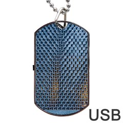 Parametric Wall Pattern Dog Tag Usb Flash (one Side) by Amaryn4rt