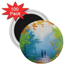 Park Nature Painting 2 25  Magnets (100 Pack)  by Amaryn4rt