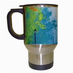 Park Nature Painting Travel Mugs (white) by Amaryn4rt