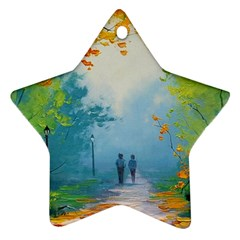 Park Nature Painting Star Ornament (two Sides) by Amaryn4rt