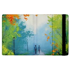 Park Nature Painting Apple Ipad 3/4 Flip Case by Amaryn4rt
