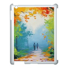Park Nature Painting Apple Ipad 3/4 Case (white) by Amaryn4rt