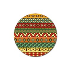 Mexican Folk Art Patterns Magnet 3  (round) by Amaryn4rt