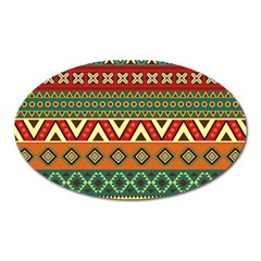 Mexican Folk Art Patterns Oval Magnet by Amaryn4rt