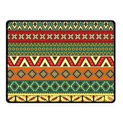 Mexican Folk Art Patterns Double Sided Fleece Blanket (small)  by Amaryn4rt