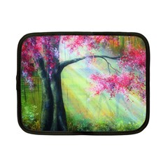 Forests Stunning Glimmer Paintings Sunlight Blooms Plants Love Seasons Traditional Art Flowers Sunsh Netbook Case (small)  by Amaryn4rt