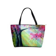 Forests Stunning Glimmer Paintings Sunlight Blooms Plants Love Seasons Traditional Art Flowers Sunsh Shoulder Handbags by Amaryn4rt
