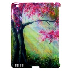 Forests Stunning Glimmer Paintings Sunlight Blooms Plants Love Seasons Traditional Art Flowers Sunsh Apple Ipad 3/4 Hardshell Case (compatible With Smart Cover) by Amaryn4rt