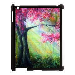 Forests Stunning Glimmer Paintings Sunlight Blooms Plants Love Seasons Traditional Art Flowers Sunsh Apple Ipad 3/4 Case (black) by Amaryn4rt