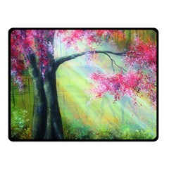 Forests Stunning Glimmer Paintings Sunlight Blooms Plants Love Seasons Traditional Art Flowers Sunsh Double Sided Fleece Blanket (small)