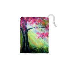 Forests Stunning Glimmer Paintings Sunlight Blooms Plants Love Seasons Traditional Art Flowers Sunsh Drawstring Pouches (xs)