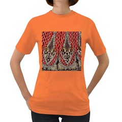 Indian Traditional Art Pattern Women s Dark T Shirt