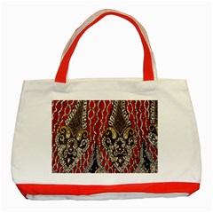 Indian Traditional Art Pattern Classic Tote Bag (red) by Amaryn4rt