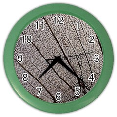 Sea Fan Coral Intricate Patterns Color Wall Clocks by Amaryn4rt