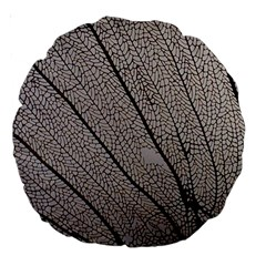 Sea Fan Coral Intricate Patterns Large 18  Premium Round Cushions by Amaryn4rt