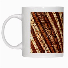 Udan Liris Batik Pattern White Mugs