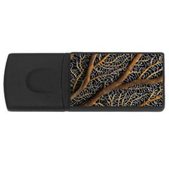 Trees Forests Pattern Usb Flash Drive Rectangular (4 Gb) by Amaryn4rt