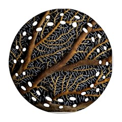 Trees Forests Pattern Round Filigree Ornament (two Sides) by Amaryn4rt