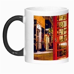Telephone Box London Night Morph Mugs by Amaryn4rt