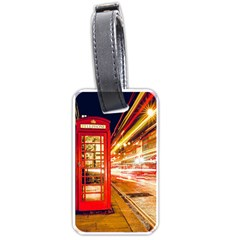 Telephone Box London Night Luggage Tags (one Side)