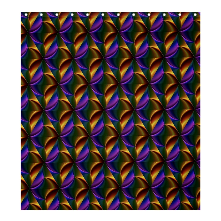 Seamless Prismatic Line Art Pattern Shower Curtain 66  x 72  (Large)