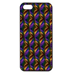 Seamless Prismatic Line Art Pattern Apple Iphone 5 Seamless Case (black)