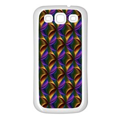 Seamless Prismatic Line Art Pattern Samsung Galaxy S3 Back Case (white)