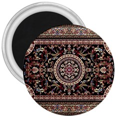 Vectorized Traditional Rug Style Of Traditional Patterns 3  Magnets by Amaryn4rt