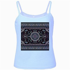 Vectorized Traditional Rug Style Of Traditional Patterns Baby Blue Spaghetti Tank by Amaryn4rt
