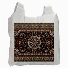 Vectorized Traditional Rug Style Of Traditional Patterns Recycle Bag (two Side)  by Amaryn4rt