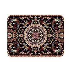 Vectorized Traditional Rug Style Of Traditional Patterns Double Sided Flano Blanket (mini)  by Amaryn4rt