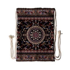 Vectorized Traditional Rug Style Of Traditional Patterns Drawstring Bag (small)
