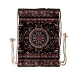 Vectorized Traditional Rug Style Of Traditional Patterns Drawstring Bag (Small) Back