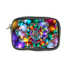 Rainbow Spiral Beads Coin Purse by WolfepawFractals